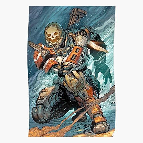 Emile Reach Spartan Skull Halo Knife Armor  家居装饰墙艺术打印海报