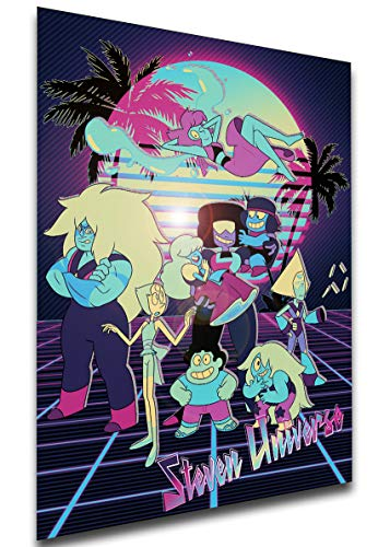 Instabuy Poster - Vaporwave 80s Style - Steven Universe - Characters A4 30x21