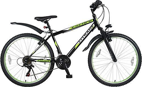 26 Zoll Kinder Jugend Mädchen Herren Jungen Damen MTB Fahrrad Mountainbike FEDERGABEL JUGENDFAHRRAD KINDERFAHRRAD Bike Rad 21 Gang Escape GRÜN Schwarz TYT19-024