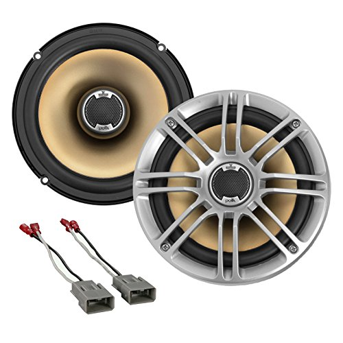 New Polk Audio DB651 6.5' 2- Way Marine Certified Coaxial Car Audio Stereo Speakers (Pair), Package with Metra 72-7800 Speaker Connector Harnesses for Select 1991-up Honda and Acura Vehicles