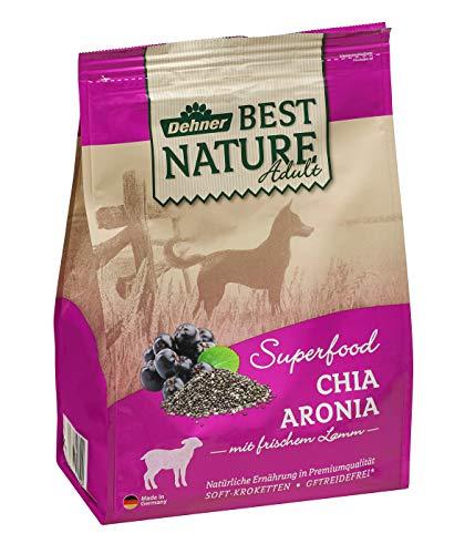 Dehner Best Nature Hundetrockenfutter Adult, Superfood, Geflügel und Lamm mit Chia und Aronia, 4 kg