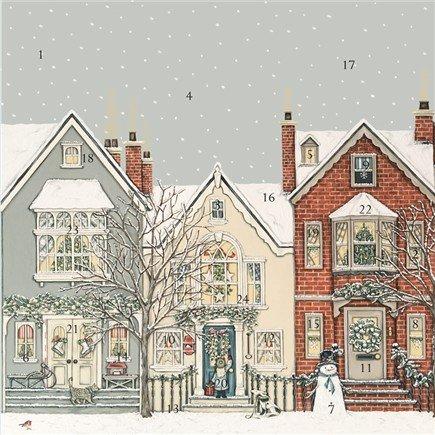 Sally Swannell Wrendale Designs Adventskalender, quadratisch, 30 cm
