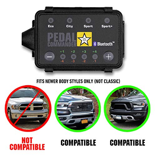 Pedal Commander - PC78 for Ram trucks (2019 and newer for 5th Generation ONLY) Fits Body Style: 1500, 2500 | Throttle Response Controller with Bluetooth