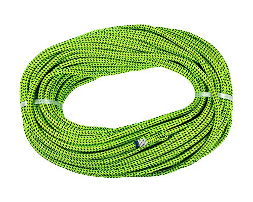 Teufelberger Tachyon Climbing Rope - 24-Strand Polyester Rope for Tree Care Operations (11.5mm x 200ft with EyeSplice, GreenBlue)