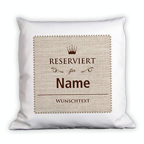 Herz & Heim® Kissen - Reserviert für - mit Namen und Wunschtext
