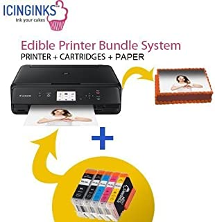 Cake Printer Bundle Comes with Set Of Cartridges and 50 Wafer Sheets, Best Image Printer For Cakes