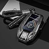 BUQDA Apto para BMW 1 3 5 7 Serie X1 X3 X5 X6 X7 F30 G20 F34 f31 G30 G01 F15 G05 I3 M4 Pantalla Inteligente Funda para Llave de Coche Funda para Llave Fob Bolsa