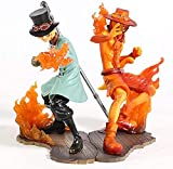 Cheaaff KY Anime Modelo estatuauna Pieza estampida Hermandad III Sabo & Ace PVC Figura Juguete de Modelos coleccionables 2 unids / Set 14Cm
