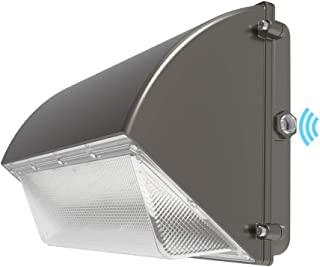 HYPERLITE Dimmable Wall Pack LED Light 120W 15,600LM (130lm/w) 5000K with Dusk to Dawn Photocell UL/DLC Certified Suitable for Wet Location Bright Outdoor Wall Pack for Parking Lot Alleyways Market