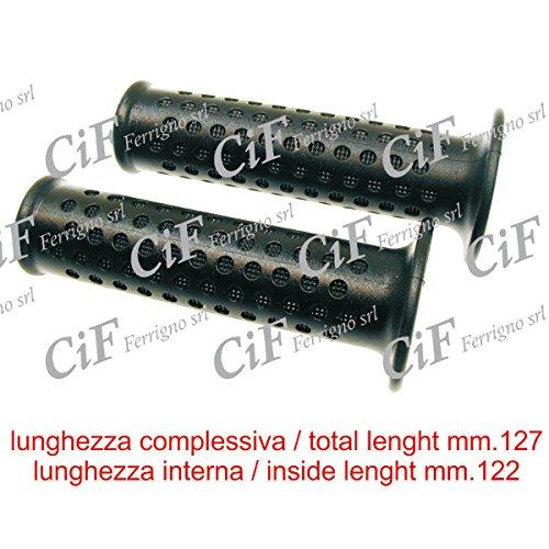10291 Paire de Poignées pour Piaggio Liberty 4T Delivery Single 50 2012 Noires Domino