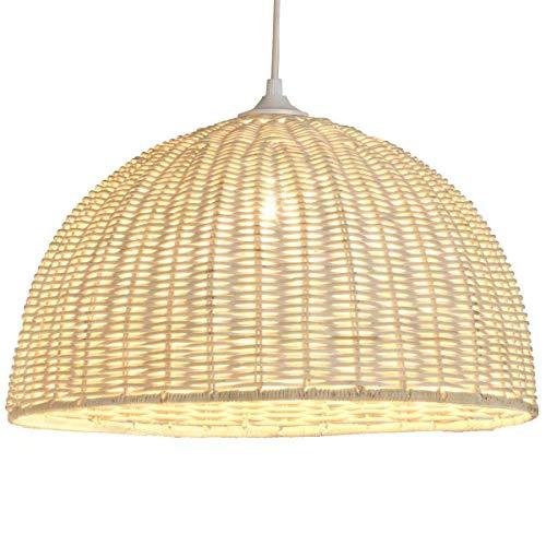 Jacinthe - Lámpara colgante de mimbre (diámetro de 40 x