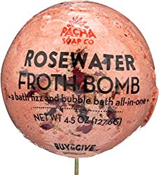Pacha Soap, Froth Bomb Rosewater, 4.5 Ounce