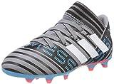 adidas Nemeziz Messi 17.3 FG, Chaussures de Football Mixte Enfant, Gris (Grey/Footwear White/Core Black), 38 EU