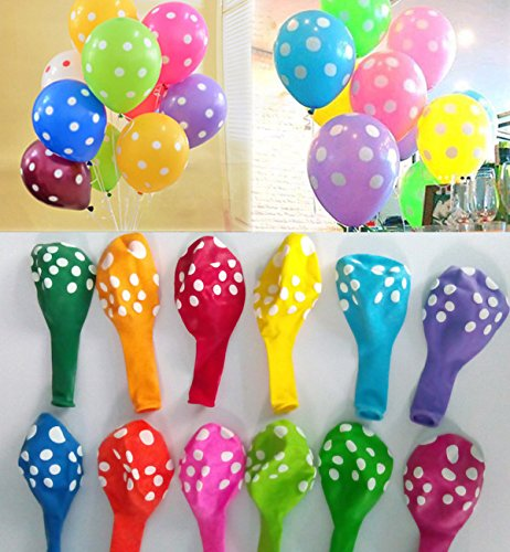 Cheap Utini Free 1000pcs/lot Wedding Decoration Helium Balloons Polka dots Latex Balloon 12inch Birt...