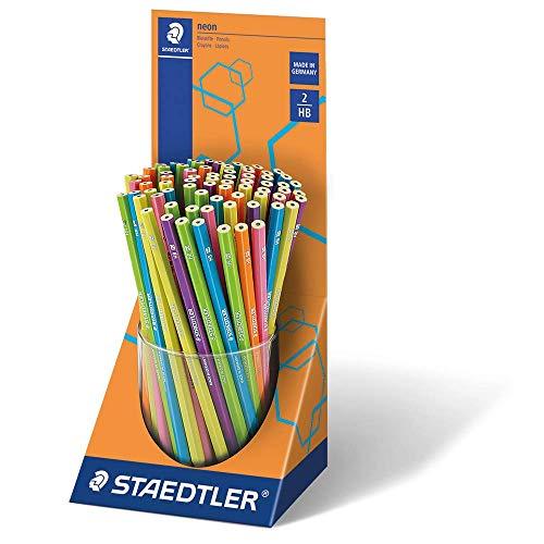 Staedtler 180F KP72 Bleistift WOPEX, 72 Stück, Köcher-Display, neon