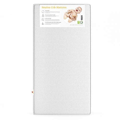 Best Price Adovely Nestiva Baby Crib Mattress, 2-Stage Dual Infant-Toddler Sides, Certified Organic ...