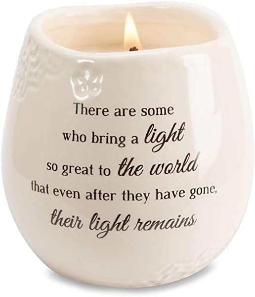 Pavilion Gift Company 19176 In In Memory Light Remains Ceramic Soy Wax Candle