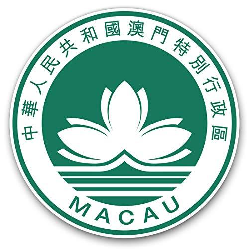 2 pegatinas de corazón de 10 cm – Macao Travel Flag Asia Fun Calcomanías para ordenadores portátiles, tabletas, equipaje, reserva de chatarra, neveras #5377