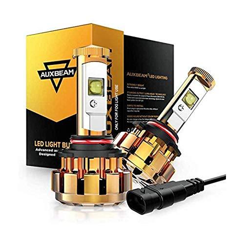 Auxbeam 9005 LED Bulbs, 9005 HB3 Led Conversion Kit 60W 6000lm XHP50 LED Chips Fog Light F-16 Series (Pack of 2)