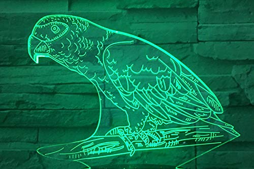 Altavoz Bluetooth 3D Luz nocturna Animal Parrot Tacto multicolor Led Gradiente Lámpara...