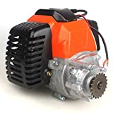 49cc Engine with Gear Reduction Transmission for 20T T8F Sprocket Pocket Bike Gas Scooter Mini ATV