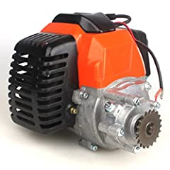 49cc Engine 44mm bore 2 stroke, single cylinder, air cool, gear box with 20 teeth fit T8F chains Fuel: 25:1 gasoline / engine oil mix Gear Box Reduction Rate: 3.55 : 1 Only TWO mounting holes at the bottom, distance between is 10cm Suits majority of ...