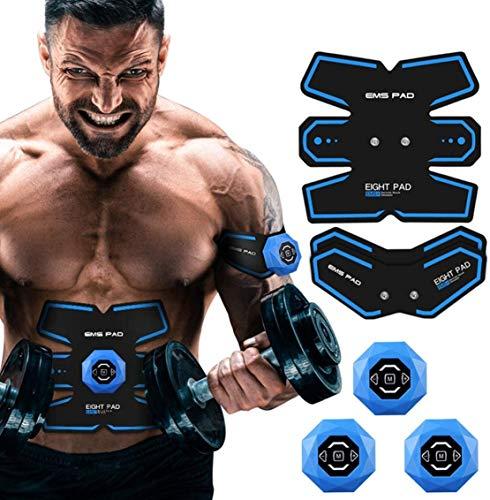 LBYLYH Abs Trainer, EMS Muskelstimulator mit 6 Modi 10 Stufen ultimative Bauch Stimulator für Männer und Frauen Gym Abs Workout Fitness Training
