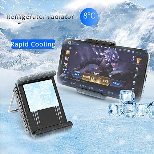 JASZW Handy-Kühler für iPhone/Samsung/Xiaomi Spiel Kühlung Gaming Kühlkörper Fall PUBG Spiel Kühlung Tropfen Temperatur Kühler