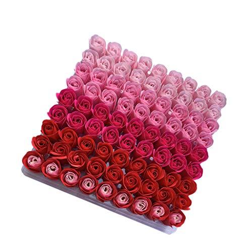 MLXG 81Pcs Mezcla de Color Rose Bath Body Flower JabóN Floral Perfumado Rose Flower DIY Regalos para el DíA de San ValentíN Wedding Party 2