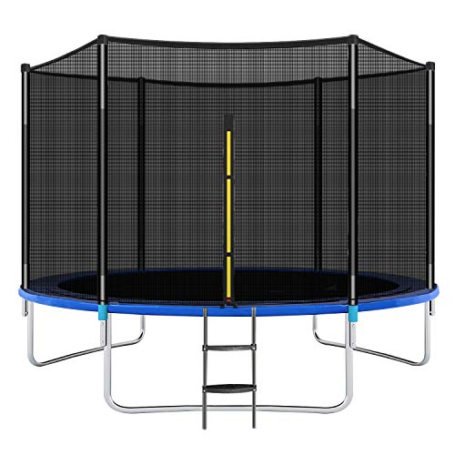 CalmMax Trampolines 10FT Jump Trampoline with Enclosure - ASTM Approved - Combo Bounce Outdoor Trampoline for Kids Family Happy Time