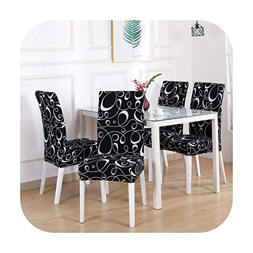 sexy-drunk Chair Cover Spandex Removable Seat Cover for Office Dining Room Weddings Party Banquet Universal Size 1/2/4/6Pc Housse De Chaise-Color 23-2 Pieces