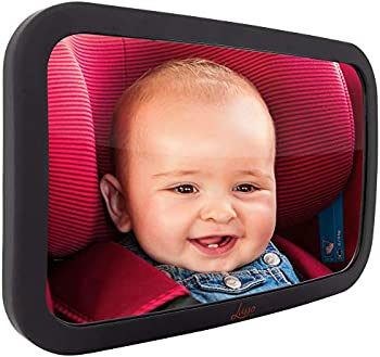 Lusso Gear Largest and Most Stable Backseat Baby Mirror