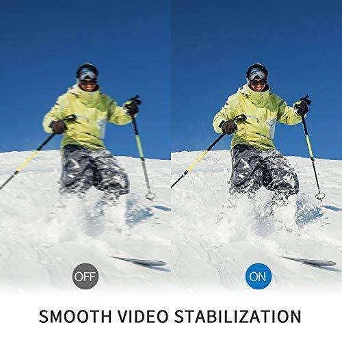 Campark X15 4K Action Cam Touchscreen EIS Stabilisierung WiFi wasserdichte Unterwasserkamera 30m Helmkamera 16MP mit 170 ° Ultra-Weitwinkel und viel Zubehör Kompatibel mit gopro - 5