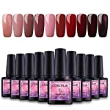Saint-Acior Nail Art Gel Lack UV Nagellack UV Gelnägel Farben 10pc Gellacken uv Set 8ml Nail Gel Polish