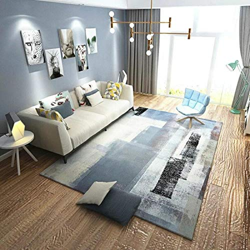 HXJHWB rugs Room Large Small Rectangular Size - Art ink painting 3D printing indoor short pile carpet living room study sofa coffee table-60CMx90CM