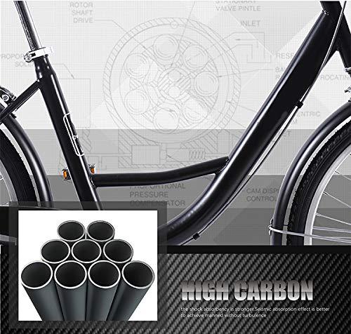 Comfort Bikes Awyac Dutch Bike for Women (26″), Summer Women with Aluminum Frame Comfortable City Bike with A Basket, Bike Ride Wheels Women, 1 Speed