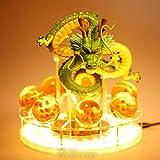 OPW Lámpara de Mesa de Bola de dragón Z Shenron Crystal Ball LED Luz Nocturna 3D PVC Figuras de acción Lámpara Shenlong Dragon Ball Lámparas Juguetes para Dormitorio Decoración Iluminación