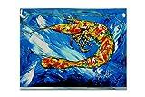 tesori dell' Caroline MW1226PLMT Ice Blue gamberetti tovaglietta in tessuto, multicolore