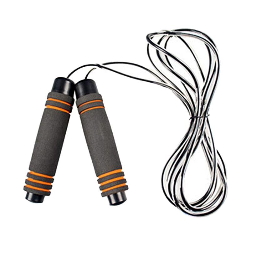 Exercise Training Best Skipping Rope with Memory Foam Handles and Speed Cable Jumping Ropes for Women and Men (Orange0