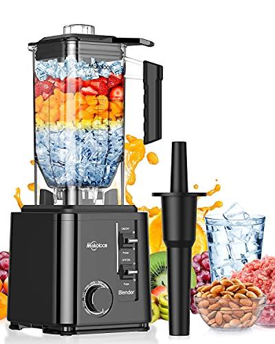 Makoloce Frullatore Professionale 2200w,2.2L Frullatore Smoothie,10 Velocità e Funzione a Impulsi,con 6 Lama per Cubetti di Ghiaccio, Frutta,Cocktail,Cioccolato, Cibo per Neonato,Non-BPA