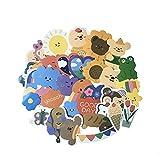 40 bonitas pegatinas de cuenta a mano, dibujos animados, ositos, maletas, cuentas, libro, ordenador, pegatinas impermeables