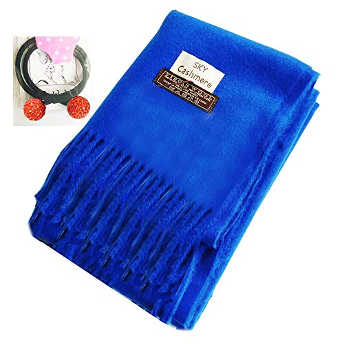 Infinity Scarf Blanket Cashmere Women Men Blue,LONGWEIZ Unisex Winter Warm Cozy Scarf for Women and Men
