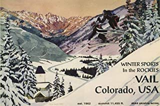 WINTER SPORTS IN THE ROCKIES VAIL COLORADO USA SNOW COUPLE SKI JUMPING SKIING 20