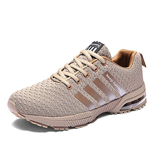 lls Laufschuhe Herren Damen Outdoor Fitnessschuhe Traillaufschuhe Leichtathletikschuhe(8877Beige,41EU)