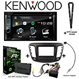 Sound of Tri-State Kenwood Excelon DDX395 6.2' DVD Receiver iDatalink KIT-C200 Dash and Wiring kit for Select Chrysler, ADS-MRR Interface Module and BAA22 Antenna Adapter and a SOTS Lanyard