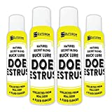 Outdoor Hunting Lab Nature's Secret Doe Estrus Deer Urine Attractant - Doe Pee Buck Attractant for Whitetail Deer - Hunting Scent for Mock Scrapes, Drags, and Drippers - 4 oz Aerosol Spray (4 Pack)