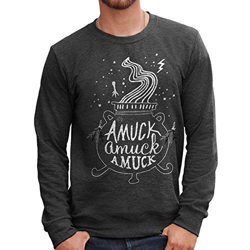 MUSH Sweatshirt Hocus Pocus Film - Amuck Amuck - Film by Dress Your Style - Herren-S-Grau