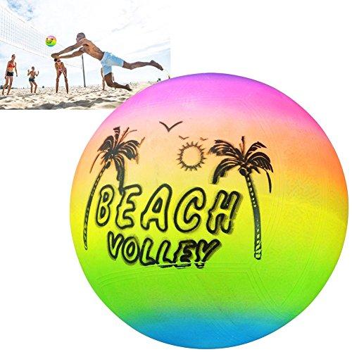 Ainstsk Beach volley, arc-en-ciel d'été gonflable PISCINE en caoutchouc volley-ball jouet Jeu Jouet pour enfants, Natation Boule, Soft Touch extérieur Plage Balle de gymnastique d'eau
