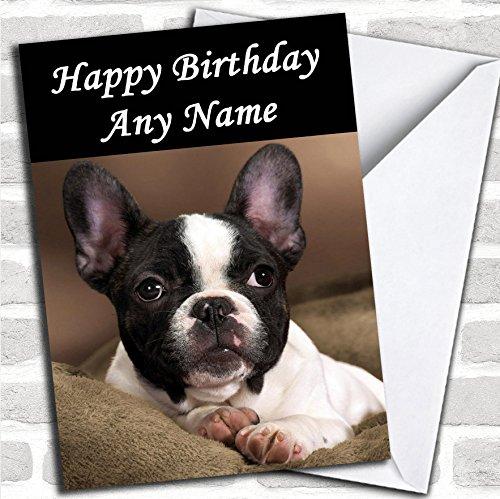 Franse Bulldog verjaardagskaart met envelop, kan volledig gepersonaliseerd worden, snel en gratis verzonden