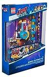 Sambro LEG2-6434 - Set da Scrittura Bumper Lego Movie, con taccuino, Astuccio e Accessori, 12 Pezzi, Multicolore